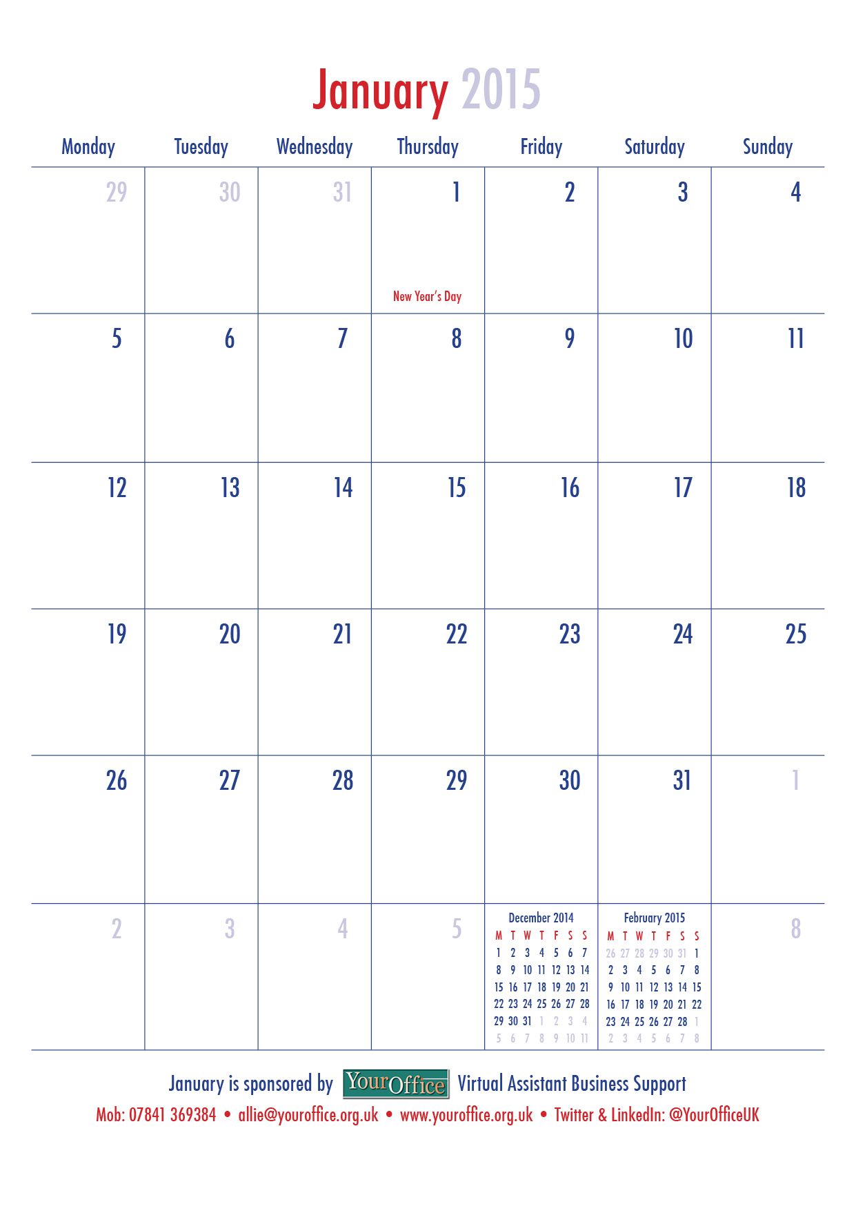 KCD Radcliffe Calendar_Your Office