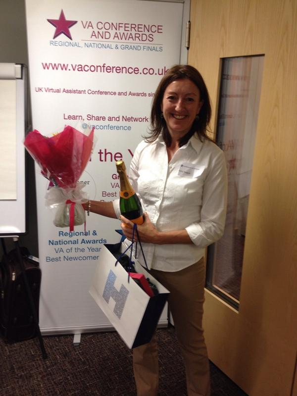 Allie @ Your Office collecting Fizz, Flowers & Choccies