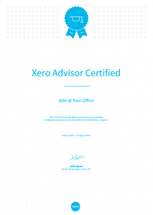 Xero Advisor Allie @ YO